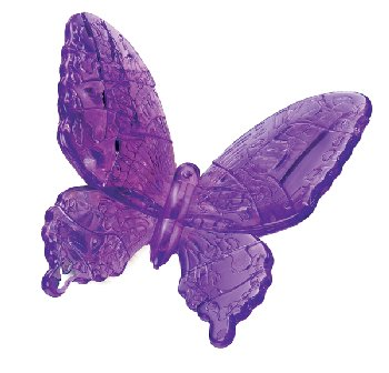 3D Crystal Puzzle - Butterfly (Level 2)