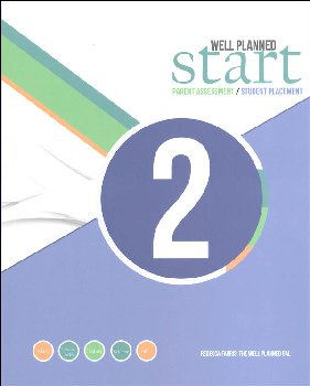 Well Planned Start Parent Assessment/Student Placement Test Grade 2