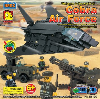 """Cobra Air Force"" 424 Piece Construction Block Set (Advanced Builder)"