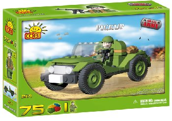 Pickup Truck 75 Pieces (Military Small Army)