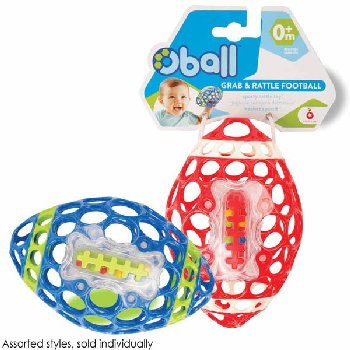 Oball Grab & Rattle Football