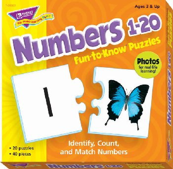Fun-to-Know Puzzles - Numbers 1-20