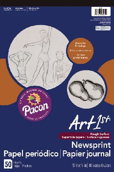 "Art1st Newsprint Pads (12"" x 18"") -  50 Sheets"