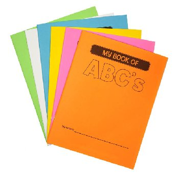 "My Book of ABC's (Make-Your-Own Book) Assorted Color (8.5"" x 11"")"