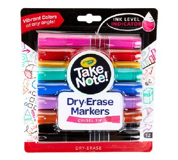 Crayola Take Note! Broad Line Dry Erase Markers (12 count)