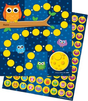Owls Mini Incentive Chart with Stickers