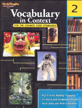 Vocabulary in Context for Common Core Standards Grade 2