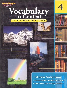 Vocabulary in Context for Common Core Standards Grade 4