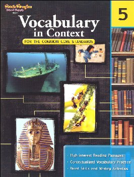 Vocabulary in Context for Common Core Standards Grade 5