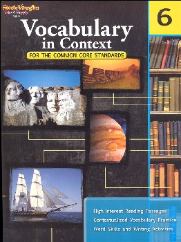 Vocabulary in Context for Common Core Standards Grade 6