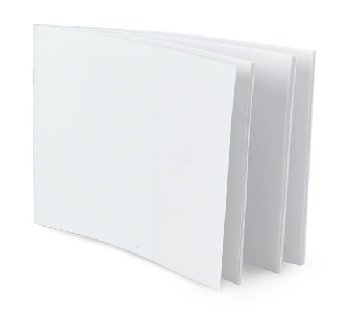 "White Blank Books (5.5"" x 8.5"") Horizontal package of 20"