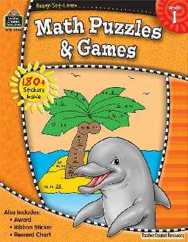 Math Puzzles & Games Gr.1 (Ready, Set, Learn)