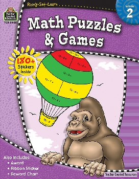 Math Puzzles & Games Gr.2 (Ready, Set, Learn)