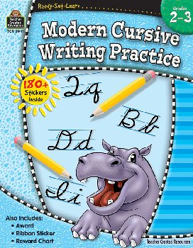 Modern Cursive Writing Practice(Ready,Set,Lrn