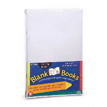 "White Blank Books (5.5"" x 8.5"") package of 20"