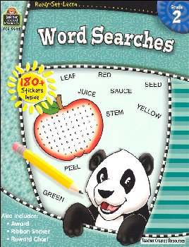 Word Searches Grade 2 (Ready, Set, Learn)