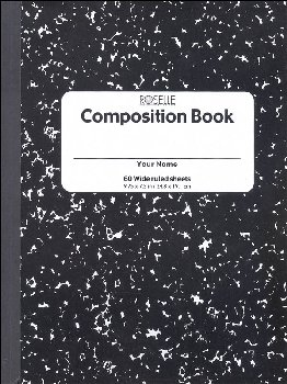 Composition Book - 60 sht, hard cover