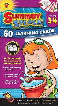Summer Splash Learning Cards Grades 3-4