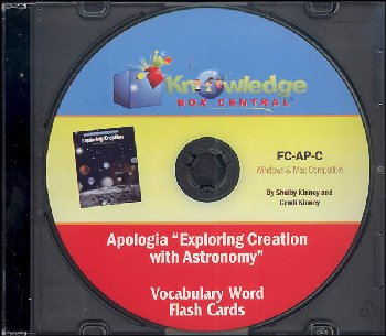 Apologia Exploring Creation with Astronomy Vocabulary Flash Cards CD