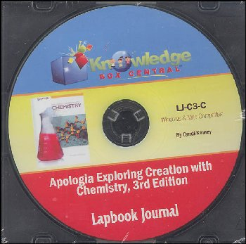 Apologia Exploring Creation with Chemistry 3rd Edition Lapbook CD