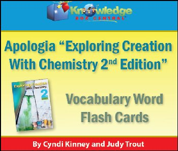 Apologia Chemistry Vocabulary Word Flashcards Printed (2nd Editions)