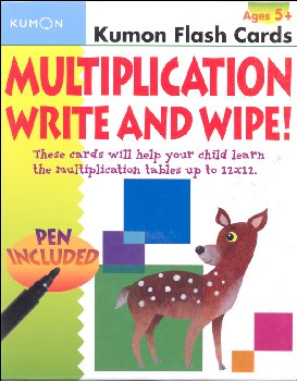 Multiplication Write & Wipe Flash Cards