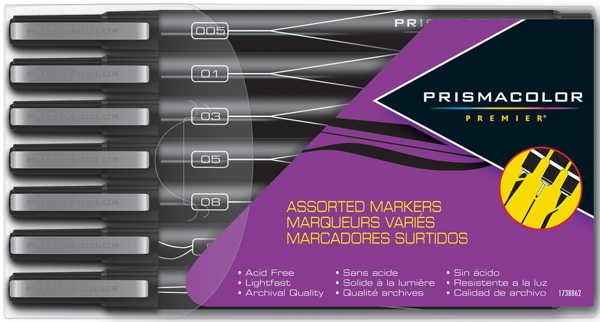 Prismacolor Premier Illustration Art Markers Assorted Tip Markers 7/set