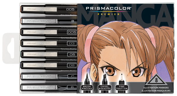Prismacolor Premier Illustration Markers Manga Assorted 8/set