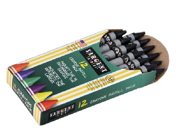 Standard Crayon Refill - Black (12 count)