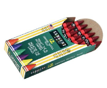 Standard Crayon Refill - Red (12 count)