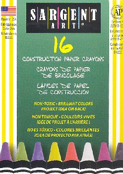 Standard Size Construction Paper Crayons (16 count)