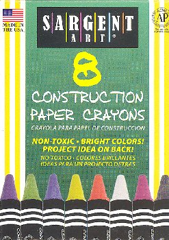 Standard Size Construction Paper Crayons (8 count)