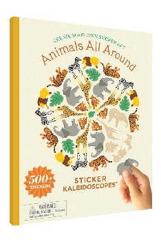 Sticker Kaleidoscope Book -Animals All Around