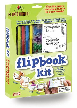 Flip Book Kits - Animals Kit (Frog & Butterfly + 2 blank books) Art Kit