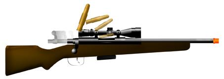 270 Bolt Action Rifle Toy Replica