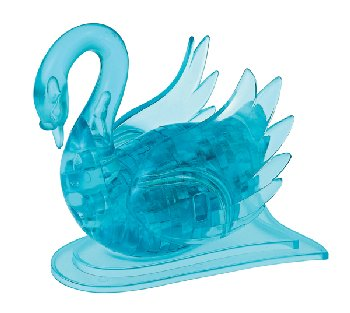 3D Crystal Puzzle - Swan Blue (Level 2)