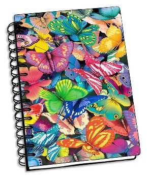 "Butterfly Magic 3D Notebook 4"" x 6"""