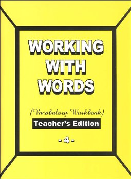 Working with Words 4 Teacher