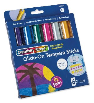 Glide-On Tempera Sticks - Metallic Colors (package of 6)