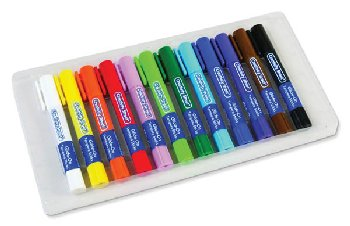 Glide-On Tempera Sticks - Primary Colors (package of 12)