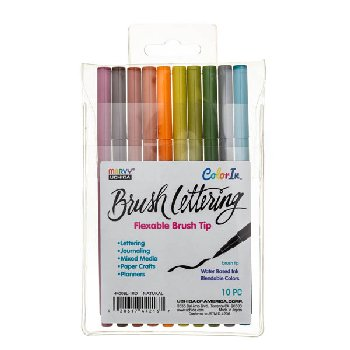 ColorIn Brush Lettering Markers Natural Set - Pack of 10