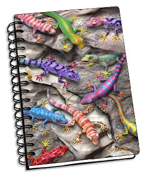 "Geckos 3D Notebook 4"" x 6"""