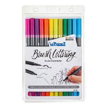 LePlume II Brush Lettering Bright Set - Pack of 12