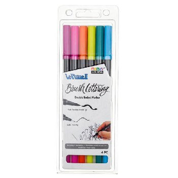 LePlume II Brush Lettering Bright Set - Pack of 6