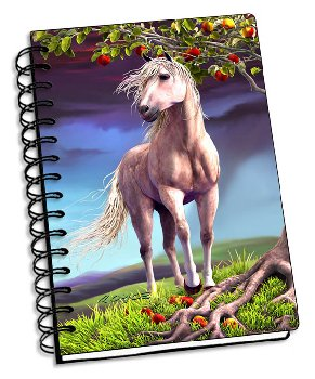 "Horse Heaven 3D Notebook 4"" x 6"""