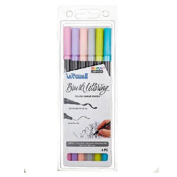 LePlume II Brush Lettering Pastel Set - Pack of 6