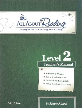 All About Reading Level 2 Teacher's Manual Color Edition