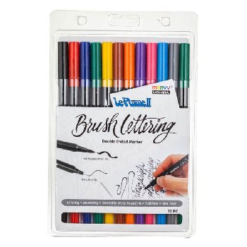 LePlume II Brush Lettering Primary Set - Pack of 12