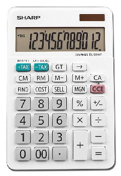 Professional Large Desktop Calculator with Kick Stand