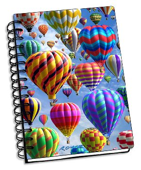"Hot Air 3D Notebook 4"" x 6"""